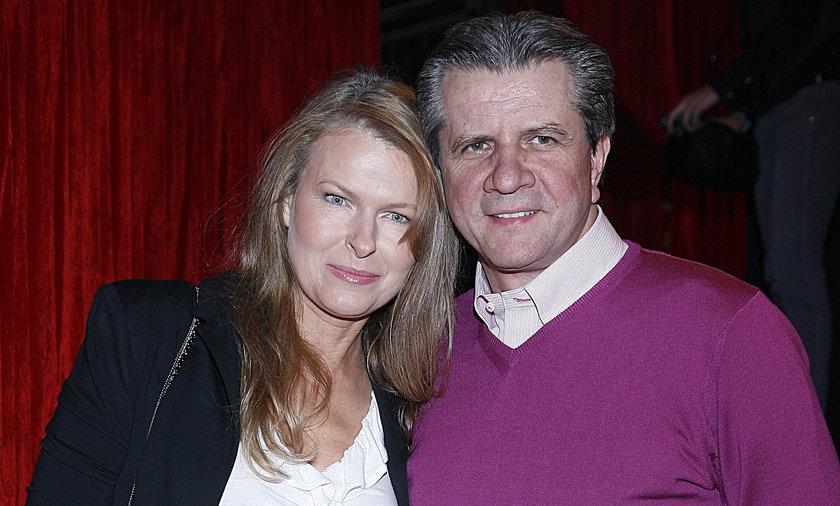 Zygmunt Chajzer z żoną Dorotą.