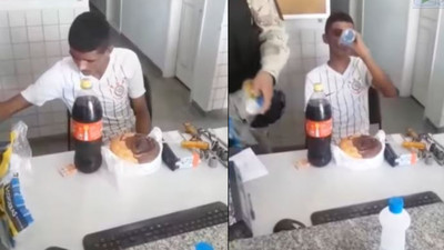 Police throw birthday party for robber arrested on his 18th birthday (video)