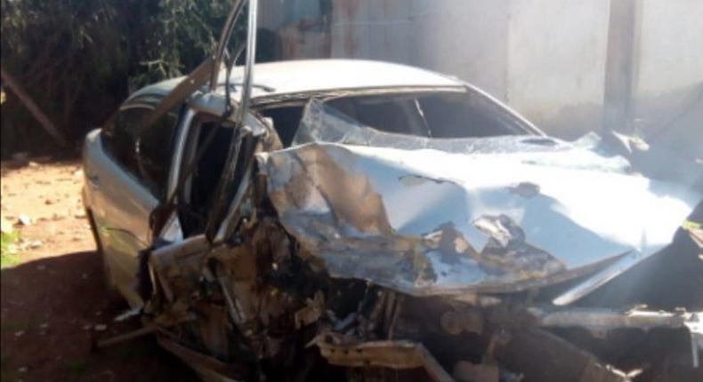 File image of a salon car involved in an accident
