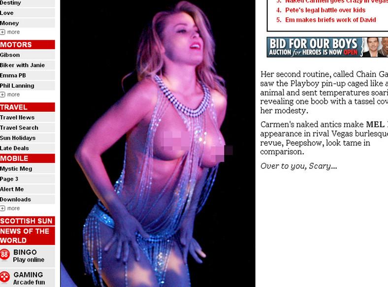 Carmen Electra pokazała obłędne piersi