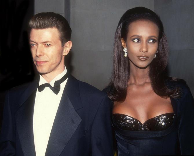 Iman i Dejvid Bouvi 1990.