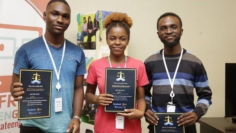 The-Winning Team L-R: Eyitayo-Ogunbiyi, Chukwudumebi-Onwuli and David Popoola. (environewsnigeria)