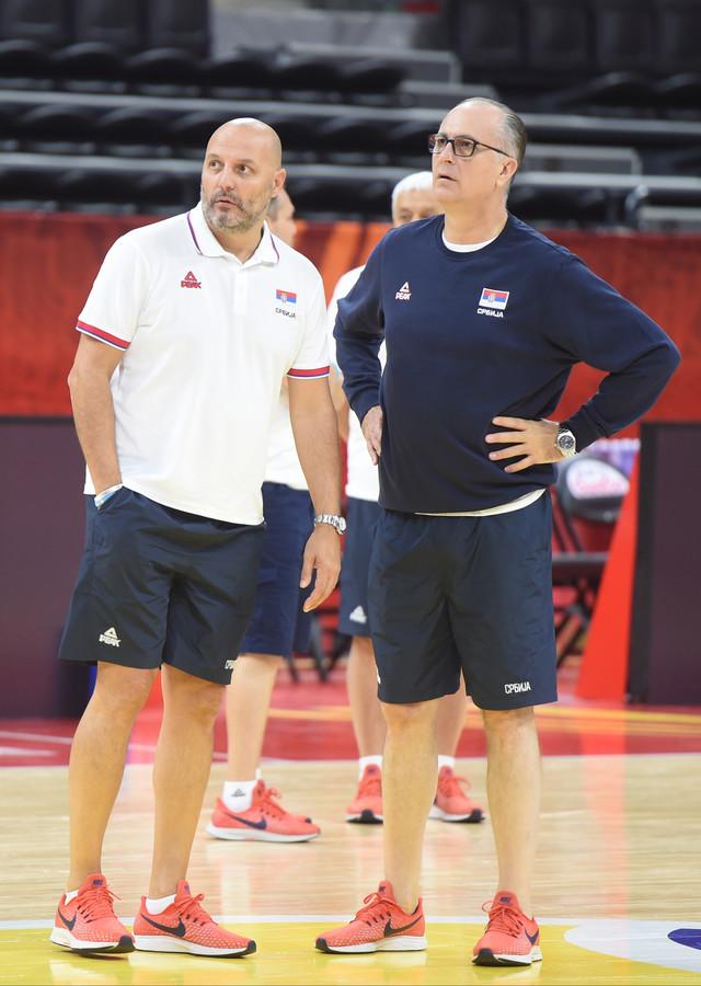 Aleksandar Đorđević i njegov pomoćnik u stručnom štabu reprezentacije, Jovica Antonić