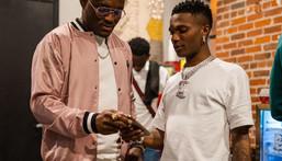 Kamaru Usman and Wizkid (Terrence Wittman)
