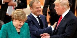 Merkel nie wyłączyła mikrofonu! Zobacz, o czym rozmawiała z Trumpem i Tuskiem