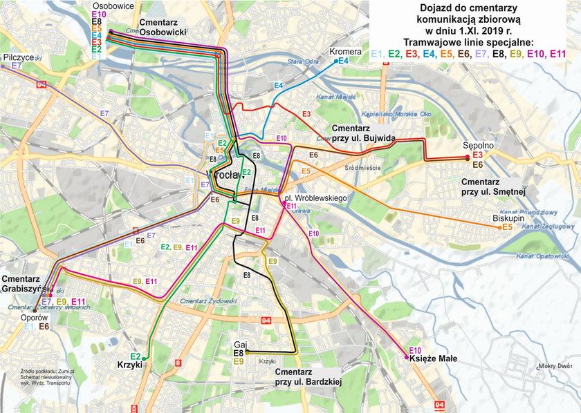 Komunikacja na Wszystkich Świętych - Wrocław