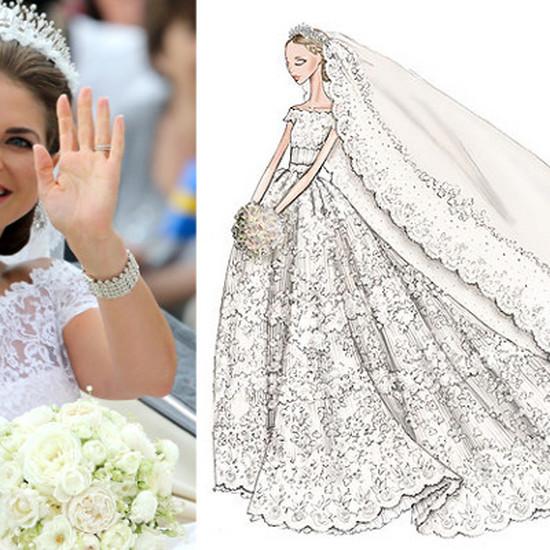 Suknia ślubna Szwedzkiej Księżniczki Koronka I 6 Metrowy Welon