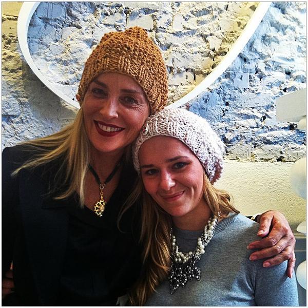 Sharon Stone i Zuzanna Wachowiak