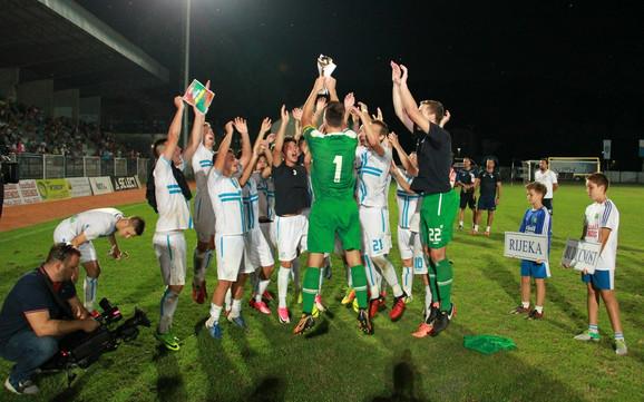Slavlje mladih fudbalera Rijeke, šampiona