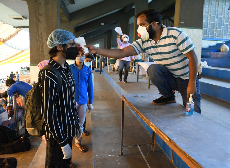 Nju Delhi indija koronavirus