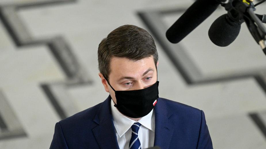 Piotr Muller na 26. posiedzeniu Sejmu IX kadencji