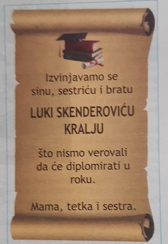 oglas u subotickim novinama 121019 RAS foto Biljana Vuckovic 001