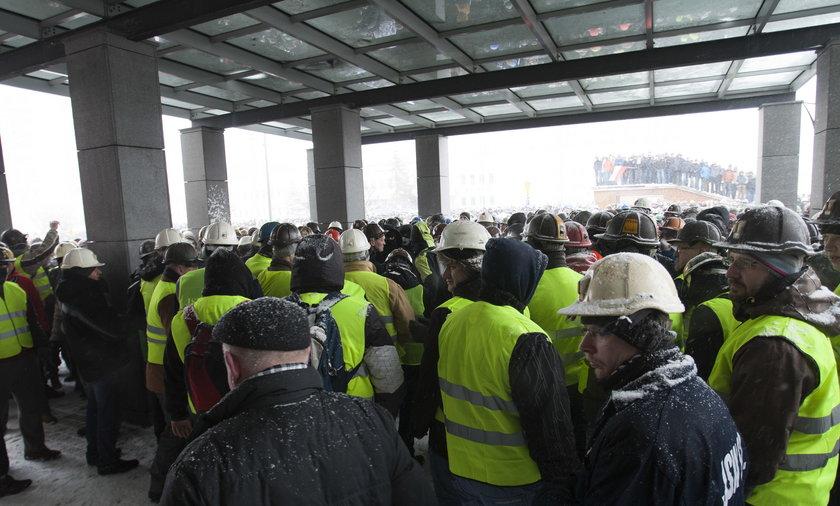 jastrzębie zdrój demonstracja górnicy