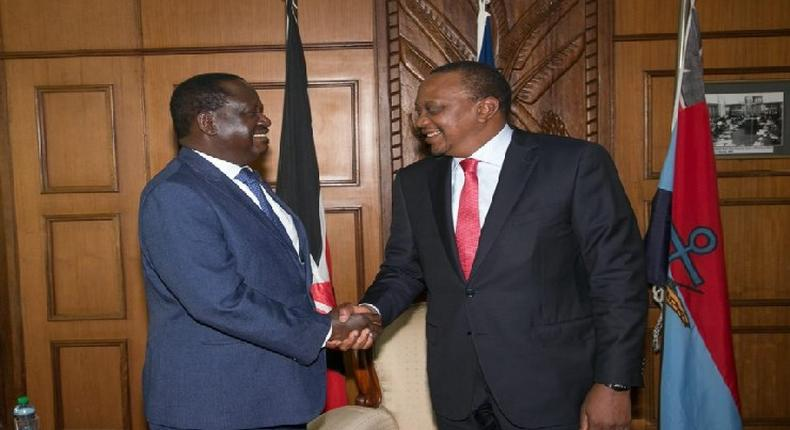 President Uhuru Kenyatta and Opposition leader Raila Odinga