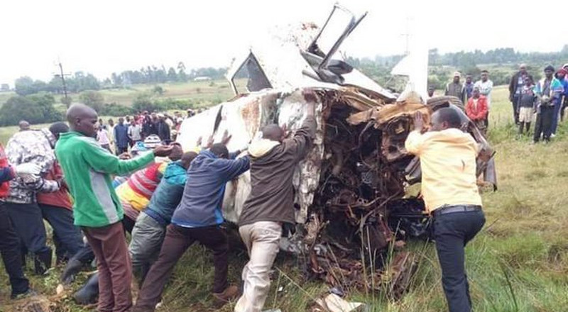 Scores of passengers feared dead after matatus collided
