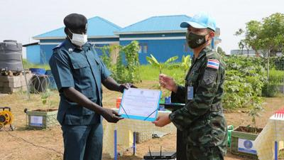 Thai engineers support displaced communities in South Sudan by training them on sustainable farming practices