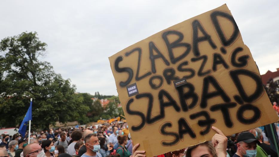 Index tüntetés / Fotó: Zsolnai Péter