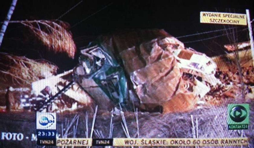 Katastrofa kolejowa! 60 osób rannych! Pociąg jechał do Warszawy