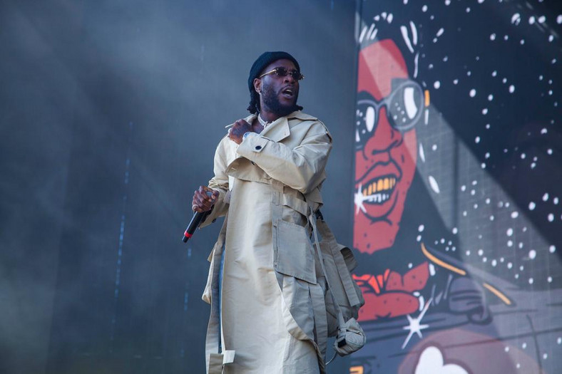 Burna Boy performing at Coachella in Indio, California. (Buki HQ)