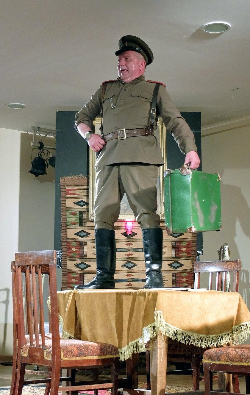 Zapiski oficera Armii Czerwonej w sali Gminnego Ośrodka Kultury