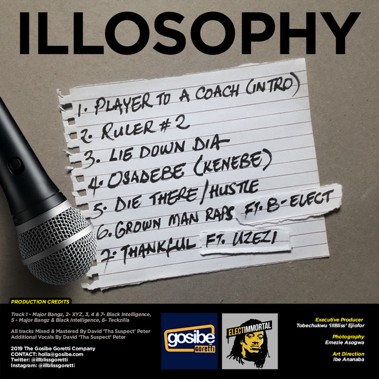ILLBLISS returns With a Brand new EP titled 'iLLOSOPHY.' (The Goretti Company)