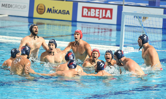 Vaterpolo reprezentacija Srbije pred meč sa Hrvatskom
