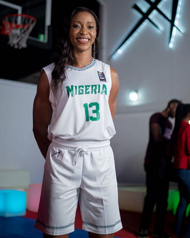 D'Tigress players including Evelyn Akhator were present to model the jerseys at the ceremony on Sunday (AFA Sports/Instagram)