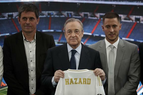 Florentino Perez na predstavljanju Edena Azara u Realu