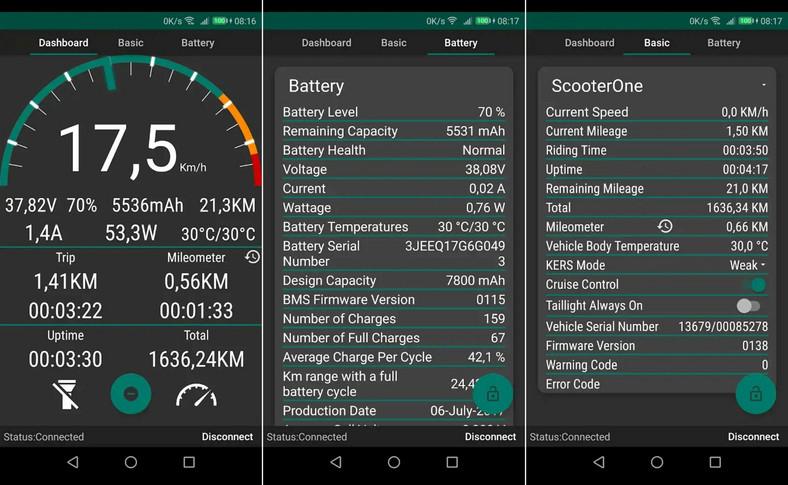 Hulajnoga Xiaomi Mijia M365 - aplikacja m365 Tools