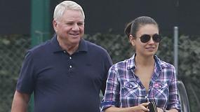 Mila Kunis na lunchu ze swoim tatą