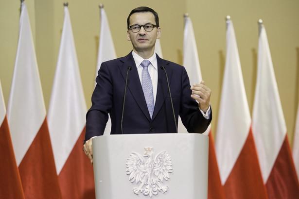 Premier Mateusz Morawiecki podczas inauguracji nowego roku akademickiego na Uniwersytecie Medycznym w Lublinie.