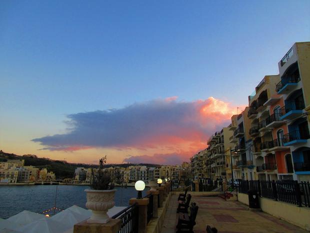 Zachód słońca na Gozo