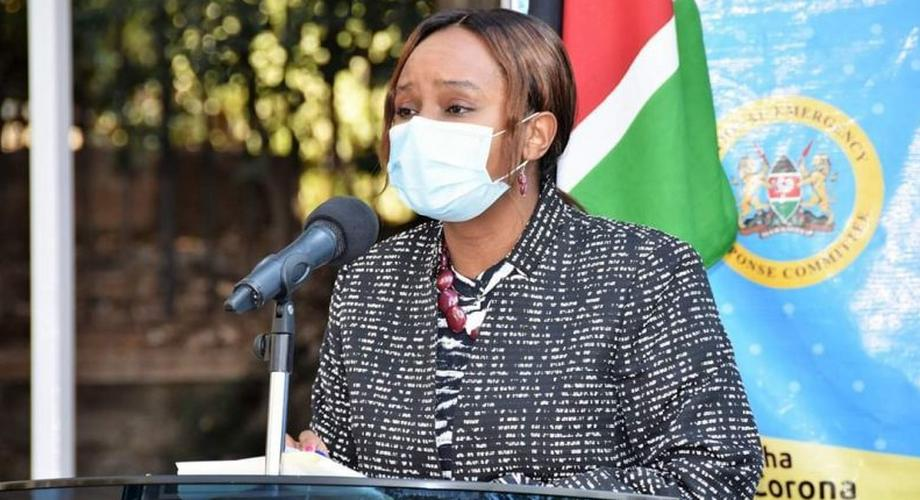 Health CAS Dr Mercy Mwangangi during a recent Covid-19 briefing