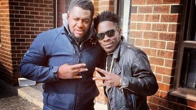 [From left to right] Bulldog and Shatta Wale