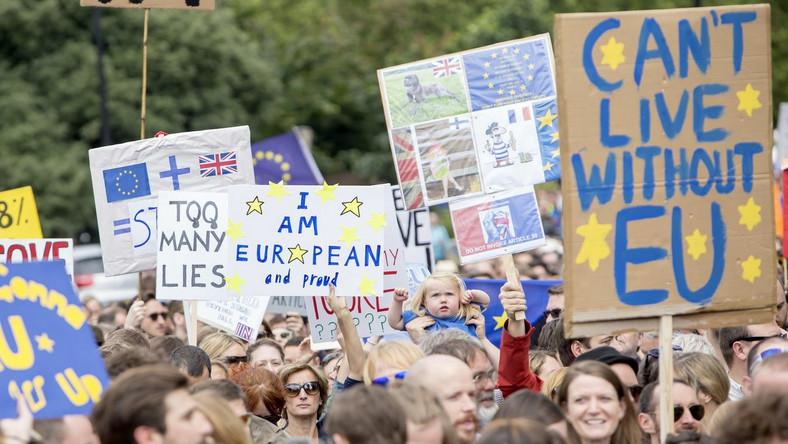 Przeciwnicy Brexitu w Londynie