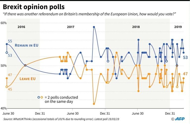 Recent opinion polls indicated public support for staying in the EU