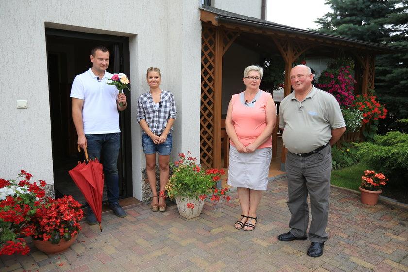 Grzegorz z Martą i rodzicami