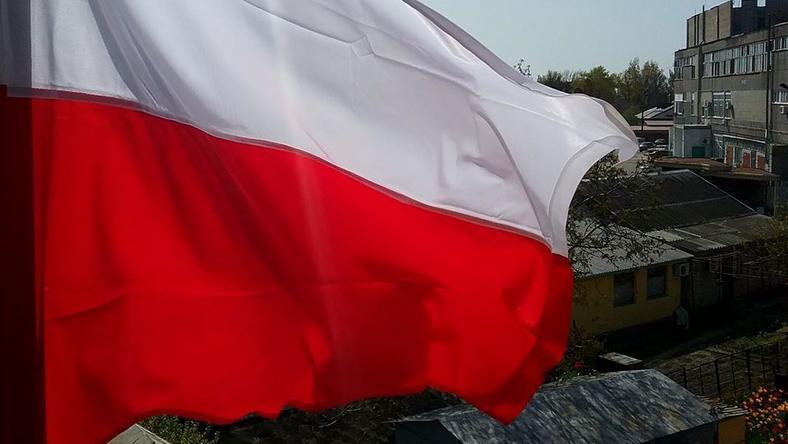 Polska flaga naf Berdiańskiem