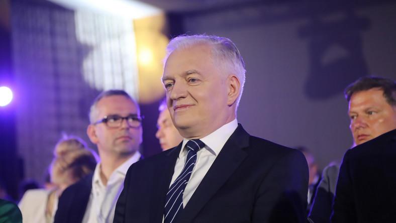 Prezes Porozumienia Jarosław Gowin podczas kongresu wyborczego partii w Warszawie