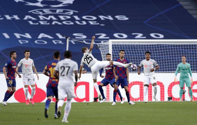 Detalj sa četvrtfinalne utakmice Lige šampiona Barselona - Bajern