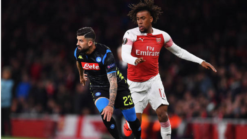 Alex Iwobi was one of the three Nigerian players in action in Thursday's Europa League actions (Justin Setterfield/Getty Images)