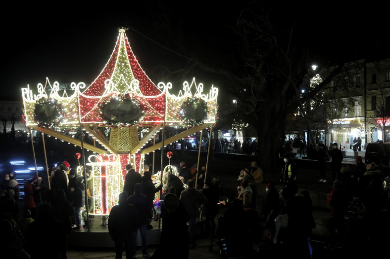Inauguracja iluminacji świątecznej w Warszawie 2
