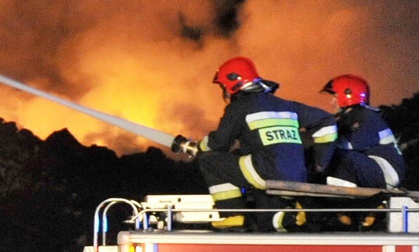 Pożar Hałdy śmieci w żelowie