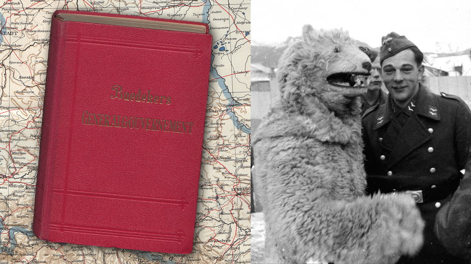 """""""Das Generalgouvernement : Reisehandbuch"""" - przewodnik turystyczny wydawnictwa Baedekera po Generalnym Gubernatorstwie z 1943 r."""