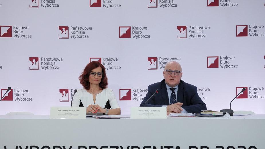 Wybory 2020. PKW: Magdalena Pietrzak, Sylwester Marciniak
