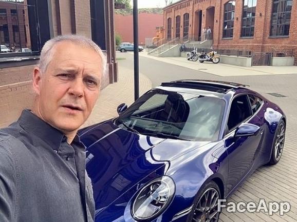 FaceApp Miloš Biković