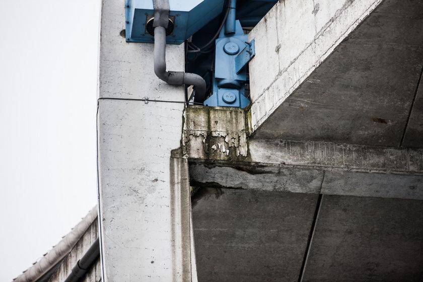 Uszkodzenia na stadionie w Poznaniu