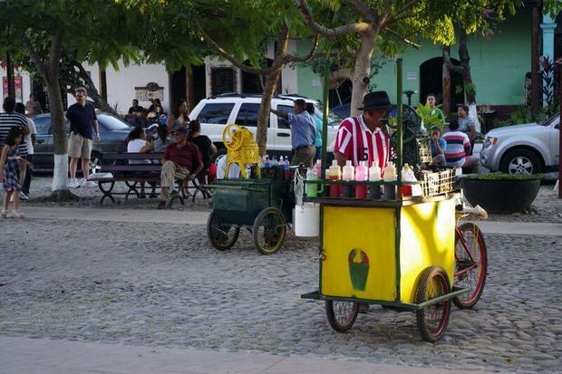 Wózek lodziarza, egzemplarz z Suchitoto