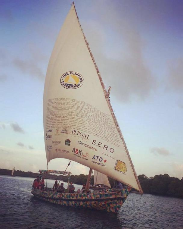 The FlipFlopi, a first-of-its-kind 9-metre sailing boat made from 10 tonnes of discarded plastic is set to make its maiden voyage later this month from Lamu, Kenya to Zanzibar, Tanzania.