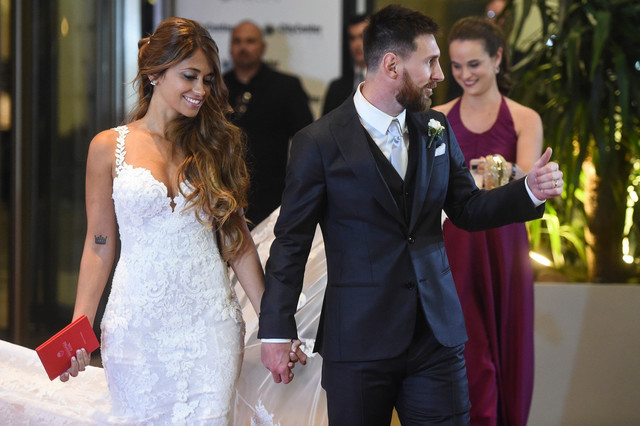 Mesi i Antonela na venčanju